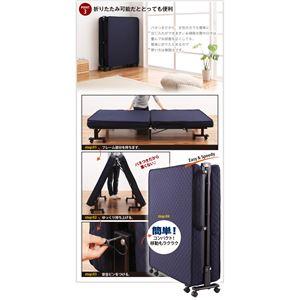 ベッド 低反発折りたたみリクライニングベッド【Belta】ベルタ画像4