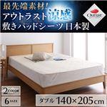 【単品】敷パッド ダブル ブルー 最先端素材!アウトラスト涼感敷きパッドシーツ 日本製