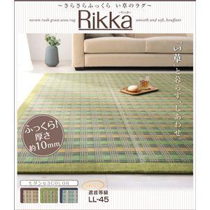 さらさらふっくら い草のラグ 【Rikka】りっか 180x240cm ブルー