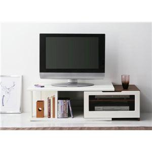 ハイグロス仕上げ伸縮TVボードシリーズ 【Grace-elas】グレース・エラス:ショートタイプ ホワイト