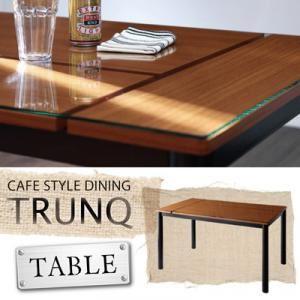 ガラス×ウッドデザインカフェスタイルダイニング【TRUNQ】トランク/テーブル(W130) - 拡大画像