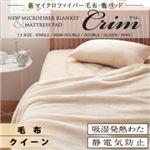 新マイクロファイバー毛布・敷パッド【Crim】クリム【毛布単品】クイーン アイボリー