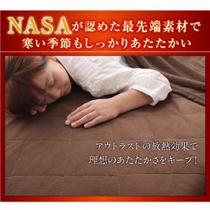 【単品】敷パッド ブラウン ダブル 最先端素材!アウトラスト温感敷きパッドシーツ 日本製