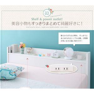 収納ベッド セミダブル【Fleur】通常丈【ボ...の紹介画像3