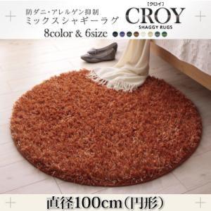 ラグマット 直径100cm(円形)【CROY】オレンジ 防ダニ・アレルゲン抑制ミックスシャギーラグ【CROY】クロイの詳細を見る