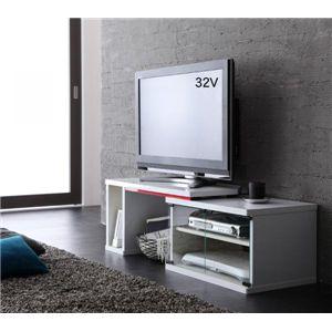 鏡面伸縮テレビボード【BRAZO】ブラッソ ホワイト
