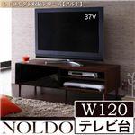 レトロモダン収納シリーズ【NOLDO】ノルド W120テレビ台 ダークブラウン