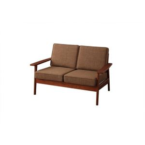 ソファー 2人掛け ブラウン 天然木シンプルデザインソファ【RUS】ラスの詳細を見る