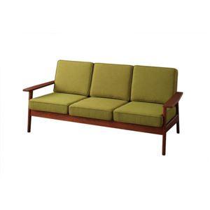 ソファー 3人掛け モスグリーン 天然木シンプルデザインソファ【RUS】ラスの詳細を見る