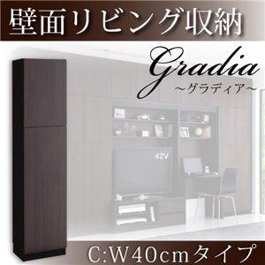 壁面リビング収納【gradia】グラディア C:本体幅40cmタイプ ダークブラウン