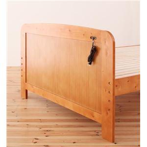 すのこベッド ダブル【Fit-in】ダークブラウン 高さが調節できる!コンセント付き天然木すのこベッド【Fit-in】フィット・イン