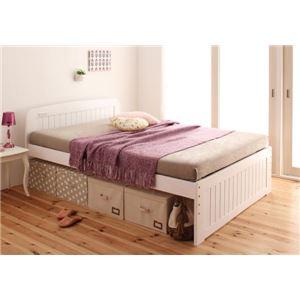 すのこベッド ダブル【Fit-in】ホワイト 高さが調節できる!コンセント付き天然木すのこベッド【Fit-in】フィット・イン