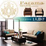 アバカシリーズ【Parama】パラマ 1人掛け (カラー:本体 ナチュラル(クッション:ブラウン))