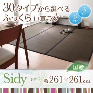 ラグマット 261×261cm【Sidy】グレー 30タイプから選べる国産ふっくらい草ラグ【Sidy】シディの詳細を見る
