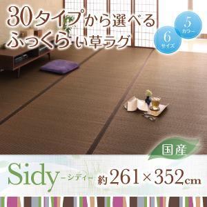 ラグマット 261×352cm【Sidy】ブラウン 30タイプから選べる国産ふっくらい草ラグ【Sidy】シディの詳細を見る