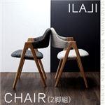 【テーブルなし】チェア2脚セット【ILALI】チャコールグレイ 北欧モダンデザインダイニング【ILALI】イラーリ/チェア(2脚組)