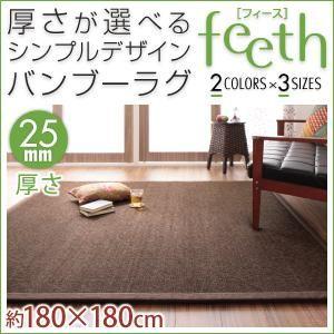 ラグマット【feeth】ベージュ 180×180cm 厚さ:25mm 厚さが選べるシンプルデザインバンブーラグ【feeth】フィースの詳細を見る