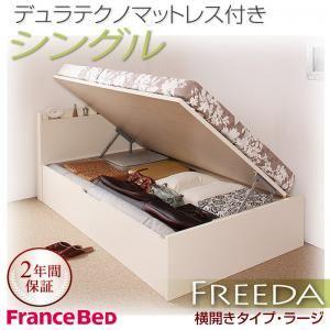収納ベッド ラージ シングル【横開き】【Freeda】【デュラテクノマットレス付】 ダークブラウン 新開閉タイプが選べるガス圧式跳ね上げ大容量収納ベッド【Freeda】フリーダの詳細を見る