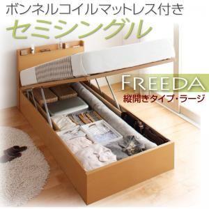 収納ベッド ラージ セミシングル【縦開き】【Freeda】【ボンネルコイルマットレス付】 ナチュラル 新開閉タイプが選べるガス圧式跳ね上げ大容量収納ベッド【Freeda】フリーダの詳細を見る