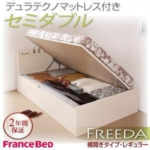 収納ベッド レギュラー セミダブル【横開き】【Freeda】【デュラテクノマットレス付】 ホワイト 新開閉タイプが選べるガス圧式跳ね上げ大容量収納ベッド【Freeda】フリーダの詳細を見る