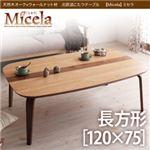 天然木オーク×ウォールナット材 北欧調こたつテーブル【Micela】ミセラ/長方形(120×75) ナチュラル