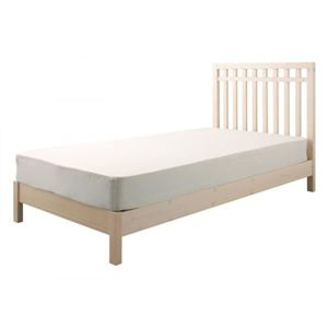 デザインパネルすのこベッド 【Chinois】 シノワ 【ボンネルコイルマットレス付き】 シングル ホワイト