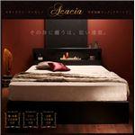 収納ベッド シングル【Acacia】【ボンネルコイルマットレス(レギュラー)付き】 カラー:ブラック マットレスカラー:アイボリー モダンライト・コンセント付き収納ベッド【Acacia】アケーシア