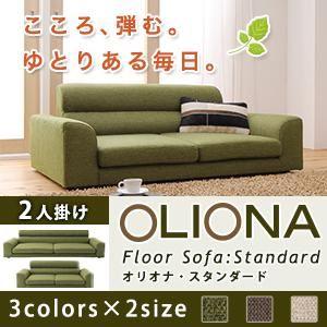ソファー 2人掛け ベージュ フロアソファ【OLIONA Standard】オリオナ・スタンダード - 拡大画像