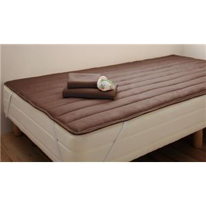 脚付きマットレスベッド セミシングル 脚22cm モカブラウン 新・ショート丈ポケットコイルマットレスベッドの詳細を見る
