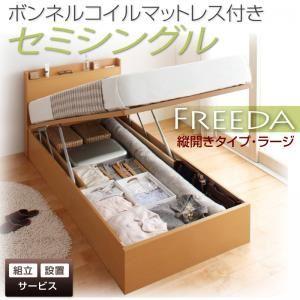 【組立設置費込】 収納ベッド ラージ セミシングル【縦開き】【Freeda】【ボンネルコイルマットレス付】 ナチュラル 新 開閉タイプが選べるガス圧式跳ね上げ大容量収納ベッド【Freeda】フリーダの詳細を見る