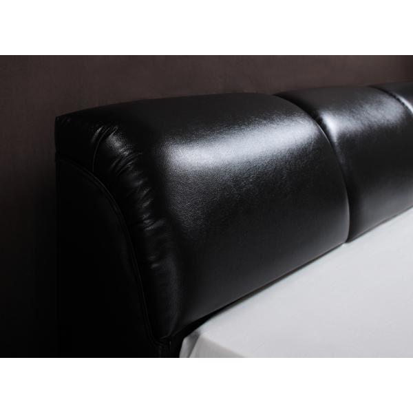 フロアベッド ダブル【MAD】【マルチラススーパースプリングマットレス付き】 ブラック モダンデザインフロアベッド【MAD】マッド