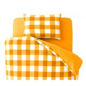 【単品】掛け布団カバー キング 柄:チェック カラー:オレンジ 32色柄から選べるスーパーマイクロフリースカバーシリーズ 掛布団カバーの詳細を見る