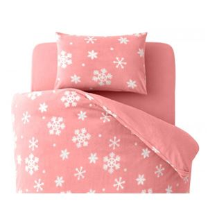 【単品】ピローケース 柄:雪 カラー:ピンク 32色柄から選べるスーパーマイクロフリースカバーシリーズ ピローケースの詳細を見る