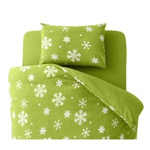 【単品】ピローケース 柄:雪 カラー:グリーン 32色柄から選べるスーパーマイクロフリースカバーシリーズ ピローケースの詳細を見る