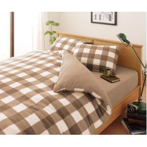 布団カバーセット シングル 柄:チェック カラー:ベージュ 32色柄から選べるスーパーマイクロフリースカバーシリーズ ベッド用3点セットの詳細を見る