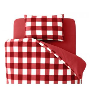 布団カバーセット ダブル 柄:チェック カラー:レッド 32色柄から選べるスーパーマイクロフリースカバーシリーズ ベッド用3点セットの詳細を見る
