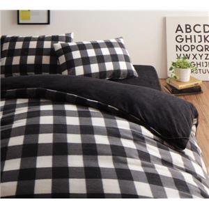 布団カバーセット キング 柄:チェック カラー:ブラック 32色柄から選べるスーパーマイクロフリースカバーシリーズ ベッド用3点セットの詳細を見る