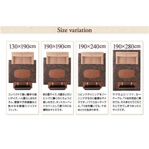 """ラグマット 190×280cm アイボリー 12色×4サイズから選べる すべてミックスカラー """"もっと""""(ウレタン20mm厚)ふかふかマイクロファイバーの贅沢シャギーラグ"""