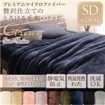 毛布・ボックスシーツセット セミダブル【gran】ローズピンク プレミアムマイクロファイバー贅沢仕立てのとろけるシリーズ【gran】グラン 発熱わた入り2枚合わせ毛布+パッド一体型ボックスシーツ