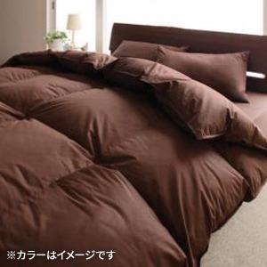 9色から選べる!羽毛布団 グースタイプ 8点セット ベッドタイプ キング (カラー:サイレントブラック)  - 拡大画像