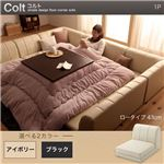 フロアコーナーソファ【COLT】コルト(ロータイプ) _1P (カラー:ブラック)