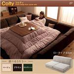 カバーリングフロアコーナーソファ【COLTY】コルティ(ロータイプ)_2P (カラー:ブラウン)