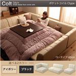 フロアコーナーソファ【COLT】コルト(ロータイプ) _ポケットコイル仕様_Ctype (カラー:ブラック)