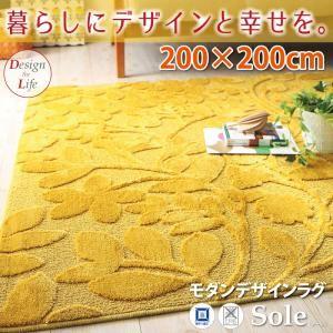 ラグマット 200×200cm モダンデザインラグ【Sole】ソーレの詳細を見る