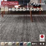 さらふわ国産ミックスシャギーラグ【rayures】レイユール 200×250cm (カラー:モスグリーン)