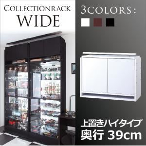 【単品】収納上置 ハイタイプ 奥行39cm ブラック コレクションラック【WIDE】の詳細を見る
