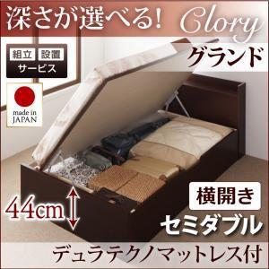 【組立設置費込】収納ベッド セミダブル・グランド【横開き】【Clory】【デュラテクノマットレス付】ホワイト 国産跳ね上げ収納ベッド【Clory】クローリーの詳細を見る