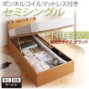 【組立設置費込】収納ベッド セミシングル・グランド【縦開き】【Freeda】【ボンネルコイルマットレス付】ナチュラル 国産跳ね上げ収納ベッド【Freeda】フリーダの詳細を見る