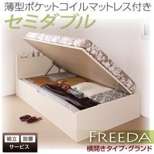 【組立設置費込】収納ベッド セミダブル・グランド【横開き】【Freeda】【薄型ポケットコイルマットレス付】ダークブラウン 国産跳ね上げ収納ベッド【Freeda】フリーダの詳細を見る