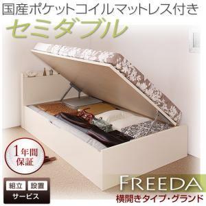 【組立設置費込】収納ベッド セミダブル・グランド【横開き】【Freeda】【国産ポケットコイルマットレス付】ナチュラル 国産跳ね上げ収納ベッド【Freeda】フリーダの詳細を見る